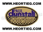 Paul Dunstall Norton Tank and Fairing Transfer Decal D20084-6